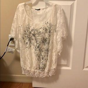 Lacy evening shirt